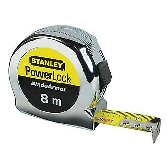 Stanley Tools PowerLock BladeArmor Pocket Tape 8m (25mm) (Metric) STA033527
