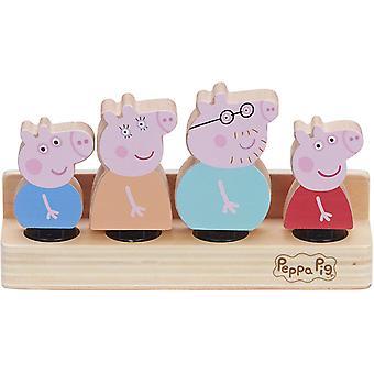 Peppa Pig - 4x Wooden Figures