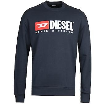 Diesel S-Crew Division Felpa Navy Sweatshirt