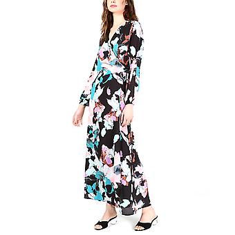 Bar III   Floral Wrap Maxi Dress