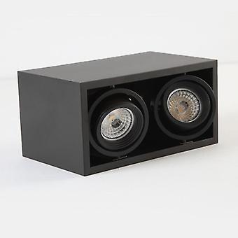 Gitter Grille Spot Light Led Mr16 * 2 -weiß, schwarze Decke Licht Downlight