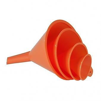 Trichterset 50 - 75 - 100 - 120 mm Polyethylen orange