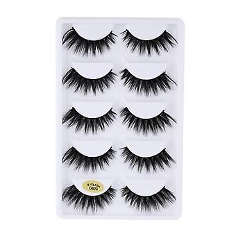 Natural False Mink Eyelashes, Soft Fake Eyelashes Extension Makeup