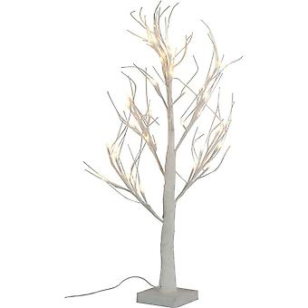 LED X-Mas Decoration Tree 60 cm glittering white with 36 LEDs and wire branches Christmas decoration