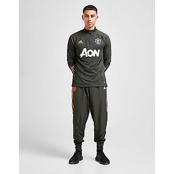 New adidas Men's Manchester United FC Presentation Track Pants Khaki