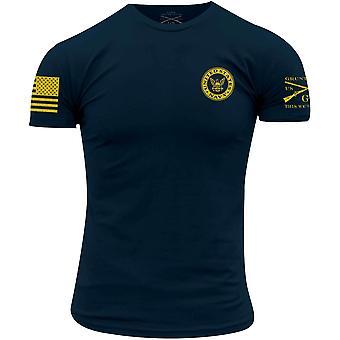 סגנון נהמה USN - צבעי חיל הים חולצת טריקו - חיל הים