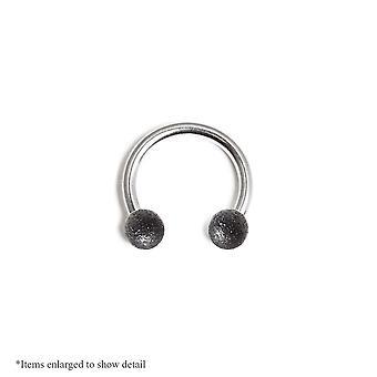 16Ga horseshoe circular barbell - nose, lip, cartilage, septum - vintage finish