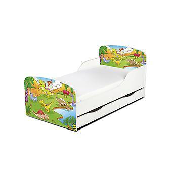 PriceRightHome Dinosaur Toddler Bed with Underbed Storage plus Fibre