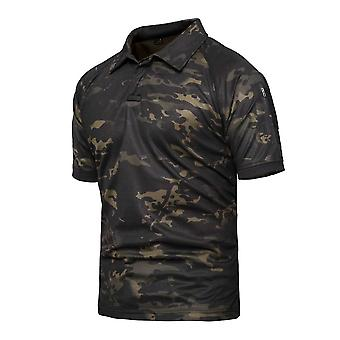 Combat Woodland Tactical Shirt Short Sleeve Hunting Camouflaged Large Size Army