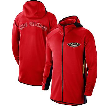 New Orleans Pelicans Showtime Therma Flex Performance Full Hoodie Top WY146