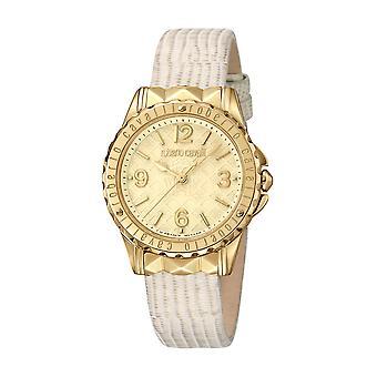 Roberto Cavalli Women's Champagne Dial Beige Leather Watch