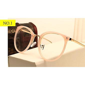 Classic Fashion Metal Round Women Eyeglasses Vintage Transparent Clear Unisex