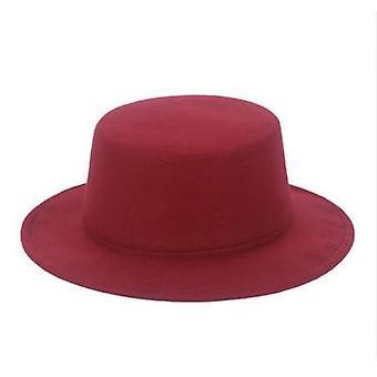 New Classic Felt Fedoras Hat Belt / ženy - Široký okraj Jednoduchý kostol Derby Byt