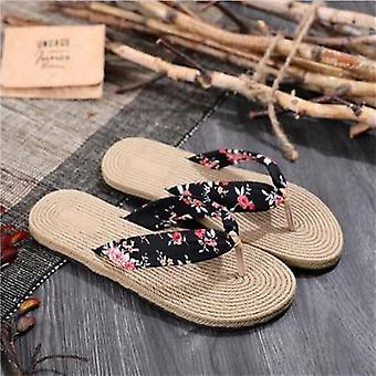 Sommar skor & sandaler Wedge Plattform Thongs Tofflor Flip Flops plattform