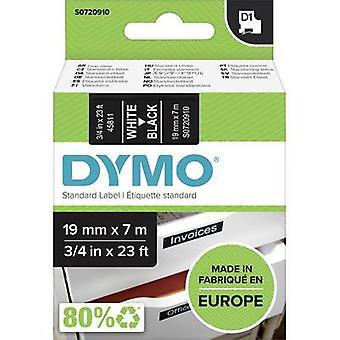Etikettering tape DYMO D1 45811 Tape kleur: zwart lettertype kleur: wit 19 mm 7 m