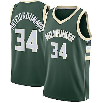 Milwaukee Bucks No.34 Antetokounmpo Loose Basketball Jersey Sports Shirts 3QY011