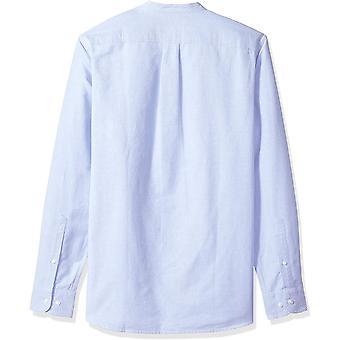 Goodthreads Men's Standard-Fit Pitkähihainen Band-Collar Oxford Shirt, -sininen, M...