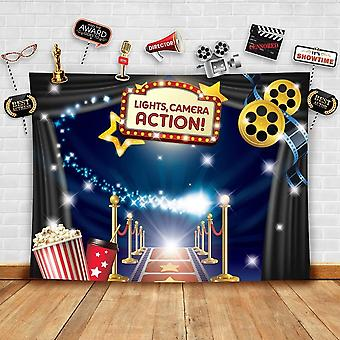 Hollywood - movie theme photography backdrop and studio props diy kit. great as dress-up and awards