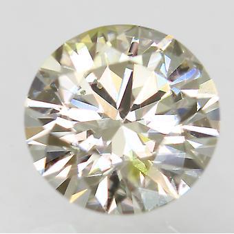 Cert 0.52 Ct Yel Br Vert VS2 Round Brilliant Enhanced Natural Diamond 5.29m 3EX