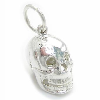 Skull Sterling Silver Charm .925 X 1 Skulls Horror Charms - 4826