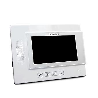 Doorbell Wired Video Intercom System 7-inch Color Monitor