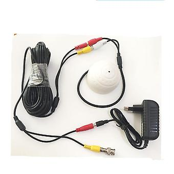 Cctv Microphone Security Camera, Rca Audio Mic, Dc Power Cable For Home