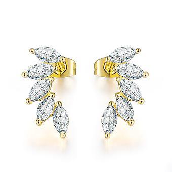 Kulta Crystal Angel Wings Korvan kiipeilijä korvakorut