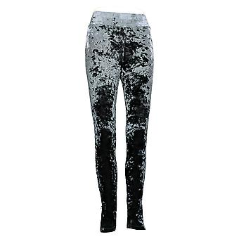 LOGO by Lori Goldstein Leggings (XXS) Velvet w/ Zippers Gray A293025