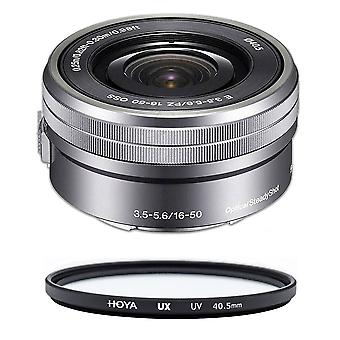 SONY SEL 16-50MM F3.5-5.6 OSS Silver (WHITE BOX) + HOYA UX UV 40.5mm Filter