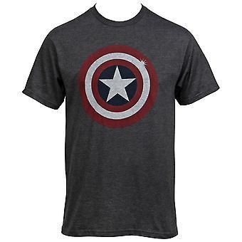 Kapitan Ameryka W trudnej sytuacji Tarcza Szary T-Shirt