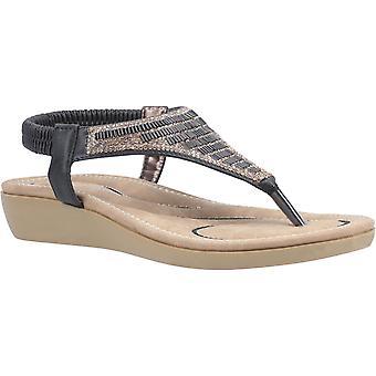 Fleet & Foster lianne womens ladies flat sandals black UK Size