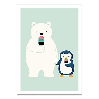 Art-Poster - Blijf koel - Andy Westface