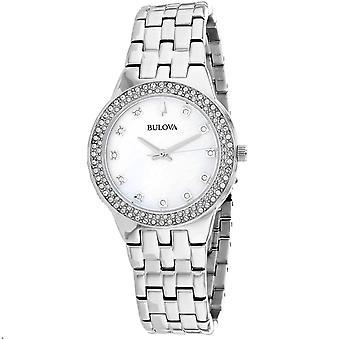 Bulova Women's Swarovski Silver Dial Watch - 96X144