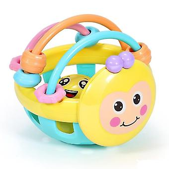 Baby Soft Rubber Rattle, Early Childhood Biting Bell Toy