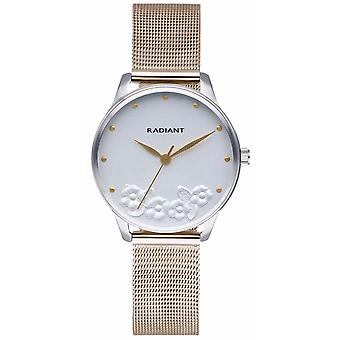 Radiant Metal & Roses Watch for Women Analog Quartz with Stainless Steel Bracelet RA548602