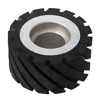100mm Dia Rubber Serrated Belt Grinder Wheel 6204 Bearings Rubber Wheel