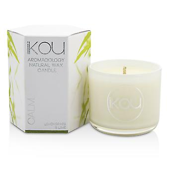 Eco luxury aromacology natural wax candle glass calm (lemongrass & lime) 196104 (2x2) inch