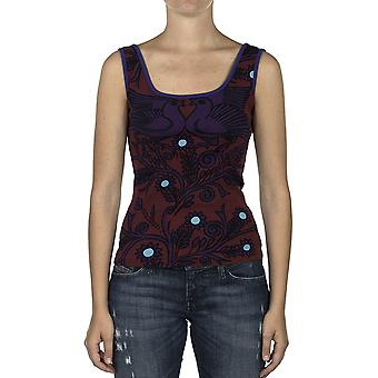 Custo Barcelona Women Tank top Back Free Birds Turquesa Multicolor