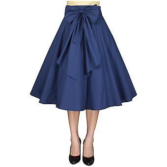 Chic Star 1950s Circle Skirt In Navy