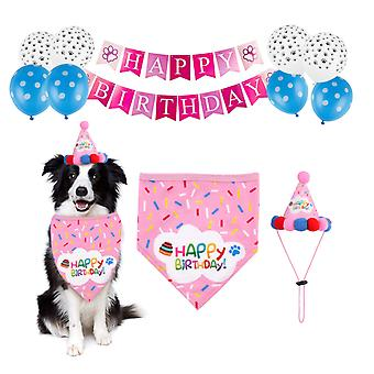 Pet birthday party decoration set birthday hat, triangle scarf