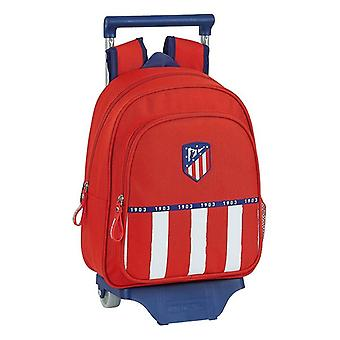 School Rucksack with Wheels 705 Atlético Madrid 20/21 Blue White Red