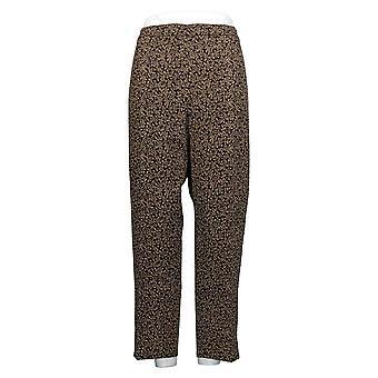 Isaac Mizrahi Live! Dames broek 16 Ditsy Floral Bi-Color Zwart A392879