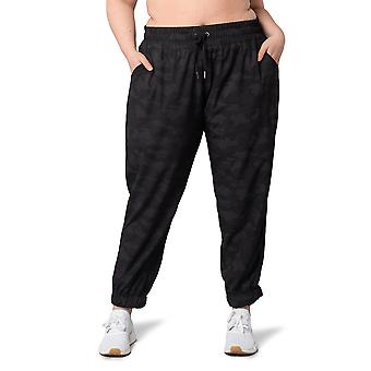 Women's Plus Size Casual Drawstring Waist Jogger Lounge Cargo Pants With Pockets