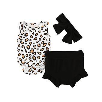 Baby Cotton Clothes, Printed Tops + Shorts Pants