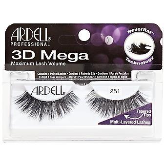 Ardell  3D Mega Volume Black 251 Layered Easy To Apply Effective Eye Lashes