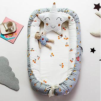 Baby Sleeping Basket, Portable Crib Newborn Protection Bumpers Bed