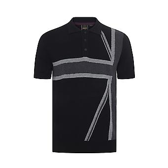 Merc CASTLE UNION JACK KNITTED POLO  Mens 100%  Cotton Regular Fit Shirt