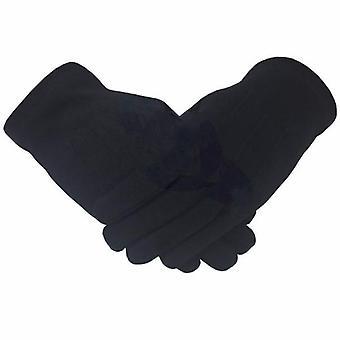 Caballero masónico templario lisa 100% algodón guante negro