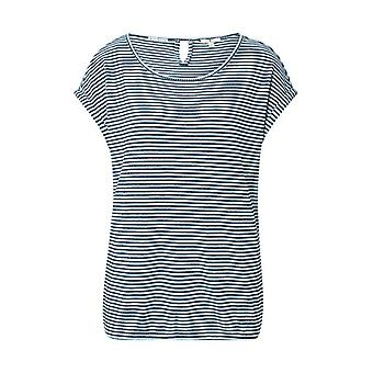Tom Tailor 1024037 Striped T-Shirt, 26043-Navy Blue Popcorn Facility, X-Small Woman