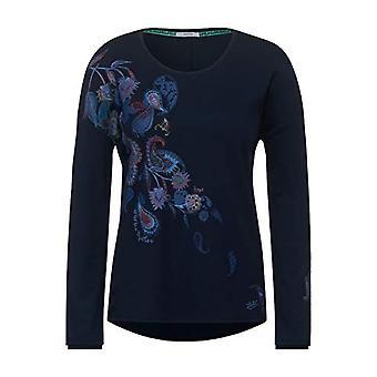 Cecil 315483 T-Shirt, Deep Blue, XXL Woman